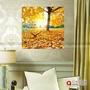 無框畫掛鐘表餐廳裝飾畫黃金樹發財樹風景臥室壁畫水晶冰晶電表箱