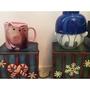 日本 迪士尼 玩具總動員 火腿豬 唐老鴨 馬克杯 湯碗 立體 陶瓷