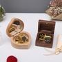 木制音樂盒 心形音樂盒 方形黑胡桃木音樂盒 朋友禮品