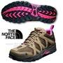 【美國 The North Face】女新款 TETSU GTX Gore-Tex 低筒登山健行鞋.越野跑鞋.慢跑鞋/A2Y1 棕褐/亮桃粉