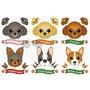 【日本可愛寵物貼紙】可愛狗狗圖鴉貼-共6款 貴賓 柯基 約克夏 法鬥好窩生活節