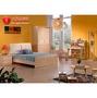 [紅蘋果傢俱] 8008 兒童家具  全實木 單人床 雙人床 床架 床台  松木衣櫃 書櫃 桌椅  4尺 5尺床 現貨
