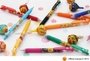 Juno日貨@現貨@Zebra SARASA 2015新品 日本限定款加倍加棒棒糖 筆夾香味款 5色組 兩款
