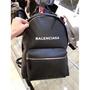 法國購入 BALENCIAGA Bal Everyday logo小牛皮後背包 黑色 大小都有 現貨