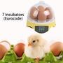現貨新品上架 7枚孵化器(歐規) 孵蛋器迷你7枚小雞孵化機HHD孵蛋機家用孵化盒鵪鶉鸚鵡小型孵化器