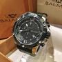 瑞士 賓馬BALMER 黑銀 外框六角螺絲設計 真皮錶 7979 【Watch-UN】