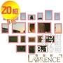 【羅蘭絲相框】精選20框組合相框牆(5色) 照片牆 相片牆 故事牆 民宿 咖啡廳 餐飲-520 (贈藍丁膠x1)