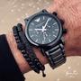 Emporio Armani 陶瓷錶 黑 白 三眼計時 Armani錶 手錶 AR1509 AR1508 AR1499