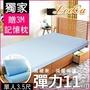 【1床1枕】熱銷組/單大3.5尺【LooCa】吸濕排汗彈力11cm記憶床墊(共3色)※此為特惠品,退運須由買家負擔