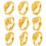 🌸粉紅の館🌸1OS_開口可調節黃銅鍍黃金女戒 新年禮物 仿24K黃金戒指 越南仿沙金女士金戒指