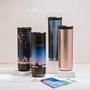 【IKUK 艾可】陶瓷保溫杯360ml職人木紋系列保溫瓶(唯一白瓷內膽不挑飲品的保溫杯)