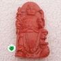 【歡喜心珠寶】【哪吒三太子雕像法像墜子】天然硃砂壓製膠結成品「附保証書」硃砂具安神護身避邪,法像威武,尋找有緣人