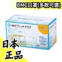 日本製 BMC口罩 三層構造高密度不織布口罩 一般款/女性款/孩童款/幼童款 小學低年級專用口罩【水貨碼頭】