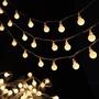 LED小彩燈水晶圓球閃燈串電池燈節慶裝飾3米20燈電池款