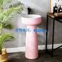 衛生間柱式立柱式洗臉盆洗手臺盆一體立柱盆簡約小型池家用落地式 免運