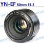 【中壢NOVA-水世界】永諾 YN 50mm F1.8 定焦大光圈鏡頭 適CANON EF機身 (一年保固) 可自動對焦