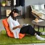 Peachy Life 頭靠舒壓款多功能和室椅/沙發床(3色可選)亮橘