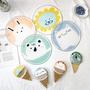 ✤宜家✤日式迷你折疊圓扇 小扇子 布面絹扇 可愛卡通和風無柄折扇