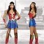 ♥萌妞朵朵♥萬聖節服裝神力女超人B款衣服復仇者聯盟Cosplay成人女戰士連衣裙