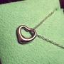 【正品二手】【誠心可議價】蒂芙妮 tiffany&co 鏤空心形項鍊墜 open heart 系列  925純銀
