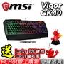 [贈電競好禮] MSI 微星 Vigor GK40 TC RGB 類機械式電競鍵盤 PCHot
