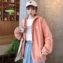 摇粒绒羊羔毛绒2019秋冬韩版女士开衫长袖卫衣女上衣外套女装8631
