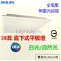 (Lightshow) PHILIPS 飛利浦 LED 38W 全電壓直下式平板燈 RC092V 方型 輕鋼架 間接照明