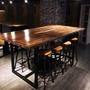 【拓家工業風家具】鐵藝方框工業風桌子/椅子LOFT/北歐風長桌長椅/辦公桌咖啡廳桌椅實木餐桌餐椅IKEA品東西
