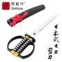 【日本NIKKEN】關龍作 日本武士刀造型文具剪刀-黑