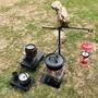 【17露】一起露-北歐原始多功能野營架(吊掛汽化燈/荷蘭鍋/附收納袋)