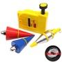 ﹍♣☏磁性線墜吊線錘建筑工具工地水泥V形線垂陀墜子自動收線 測量工具