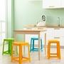 茶花塑膠凳子家用加厚成人餐桌椅方凳板凳塑膠凳換鞋凳收納4個  ATF 極有家