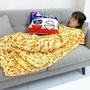 無力炸醬面抱枕空調毯無力炸醬麵抱枕