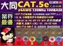 [ 2箱更優惠 大同 CAT 5e 七彩供應] 大同網路線 Cat.5e UTP 網路線 305M 305米 24AWG