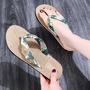 波西米亞風 渡假必備 日常外穿 平跟沙灘拖鞋 女生出遊夾腳拖鞋 麻底女凉拖鞋 少女夏日夾腳人字拖