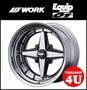 新貨鋁輪罩1部價格14英寸WORK Equip01 14×5.0J 4/100(+10/+20)burakkukattokuriawakuekuippu 01 3PC步輪圈 TIRE SHOP 4U Rakutenichiba shop