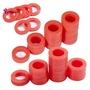 戶外花園軟管矽膠墊圈墊片,用於3/4英寸花園軟管和水龍頭的90個紅色O型圈矽膠墊圈墊片組合包