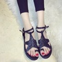 時尚星星平底涼鞋