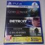 [可刷卡]PS4 戰神4+底特律變人+ 汪達與巨像+Plus3個月會籍 中文版 全新未拆