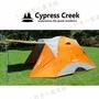 【露營趣】中和安坑 Cypress Creek 賽普勒斯 CC-T300F 馬卡龍家庭帳系列 (橘色) 六人帳篷 前庭帳 露營帳篷