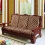 加厚海綿實木沙發墊三人座帶靠背連體紅木椅墊中式防滑毛絨坐墊