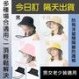 【ALVA】韓版防疫防飛沫遮陽戶外隔離漁夫帽(頭圍可調整/透明片可拆/大人小孩男女適用)