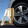 凱銳達 車載充氣泵美式螺紋氣嘴轉接頭汽車打氣泵配件快速轉換頭夾式氣嘴