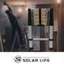 多功能全鋁全鋁合金伸縮工作梯一字梯3.2m/加厚粗管 折疊便攜(非人字梯/A字梯)