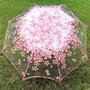 【cos伞】现货浪漫櫻花透明傘折疊雨傘學生創意女學生公主唯美兩用三摺傘韓演出
