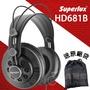 【公司貨附發票】送原廠袋轉接頭 Superlux HD681B 監聽耳機 耳罩式耳機 半開放式 HD681 舒伯樂