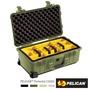 【美國 PELICAN】1514 氣密箱 登機箱 含隔層組(綠色)