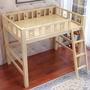 【店長推薦】單人3.5 雙人 5尺 高架爬梯床 上下床 雙層床 可訂製 ()1902