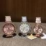Michael Kors手錶 MK女錶 間膠錶帶款 裸粉色 玫瑰金鑲鑽三眼日曆 MK6138 mk5896 MK6110