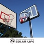 移動式成人標準高度籃球架.行動投籃球框透明籃板框可升降調整水沙箱底座